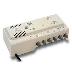 Alcad CA-220 Central amplificadora TV+FI 4 Salidas (24Vdc)
