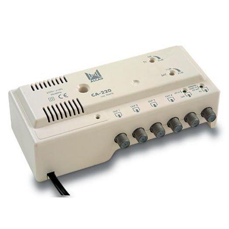 Alcad CA-220 Amplificateur TV + FI 4 sorties (24Vdc)