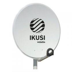 Ikusi RPA-080 Antena parabólica 80 cm Ø. Offset. Acero galvanizado. Pintado Epoxi gris claro