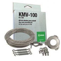 Ikusi KMV-100 Kit de vientos. 25m de cable acerado y sujetacables para mástiles 30-35 mm Ø
