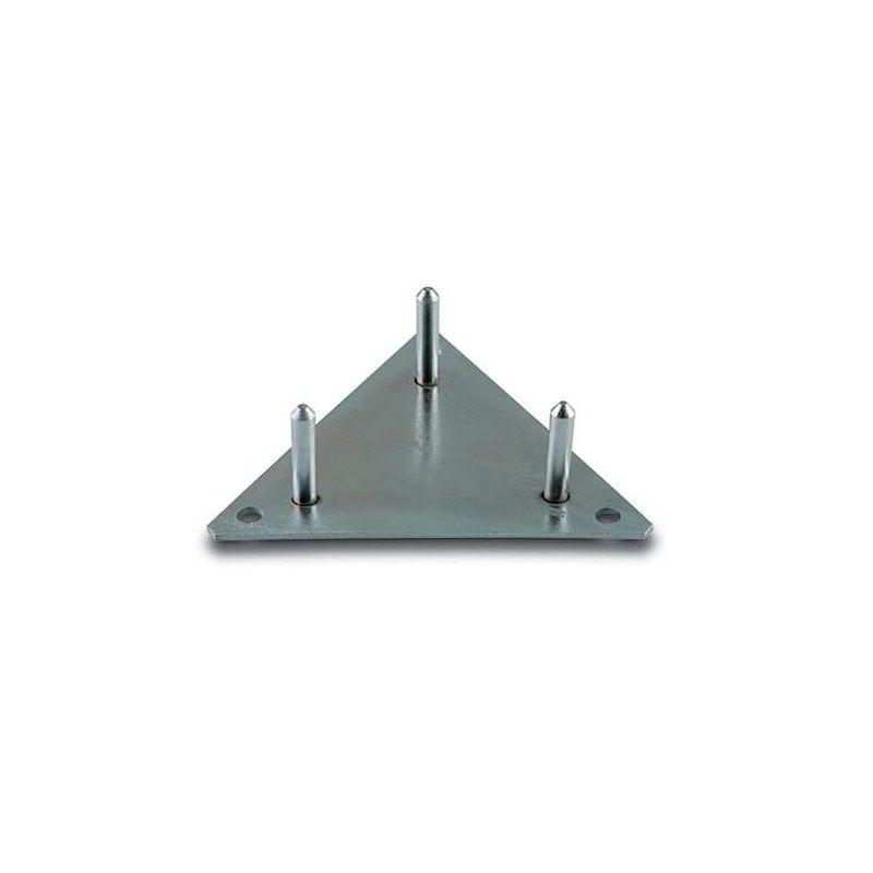 Ikusi BTA-225 Platine Fixe triangulaire 225 mm à visser. Fixation du pylone par 3 écrous