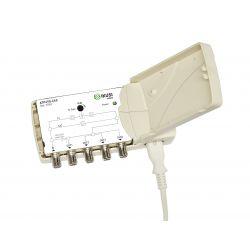 Ikusi ATP-490-C48 Amplificateur 1 entrée 4 sorties terrestre/satellite 47-694 MHz