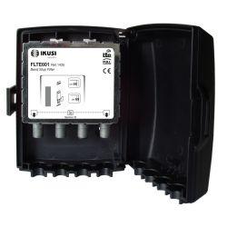 Ikusi FLTE601 Filtro rechazo a señales LTE. 2 opciones de corte: hasta el c/59 o hasta el c/60