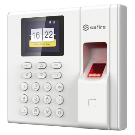 Safire SF-AC3002KMFD-IP-BAT - Control de Presencia, Huellas, Tarjeta Mifare y…