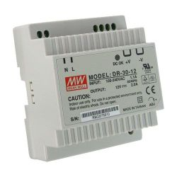 DR-30-12 -  Switching Power Supply,  DIN format,  DC Output 12V…