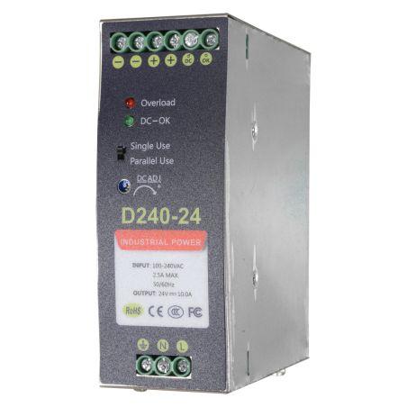 DC24V10A-DIN - Source d\'alimentation commuée, Sortie DC 24 V 10 A /…