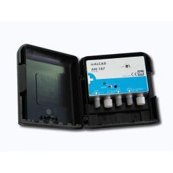 Alcad AM-187 Amp uhf+biii/fm 32 db lte700 mat 12 vdc