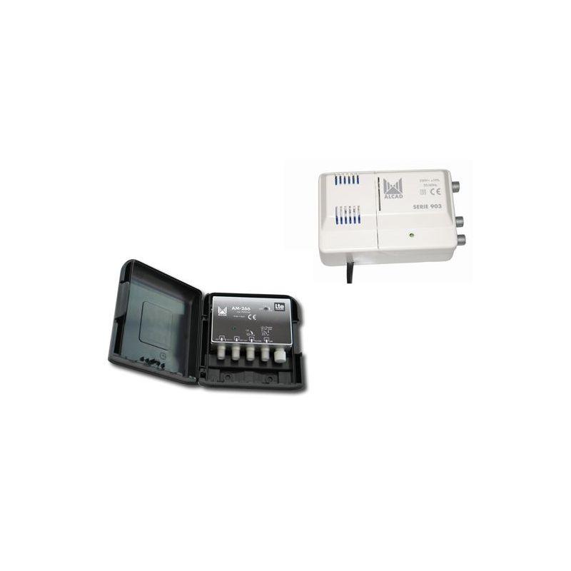 Alcad BO-266 Kit ampli am-266 y alimentador