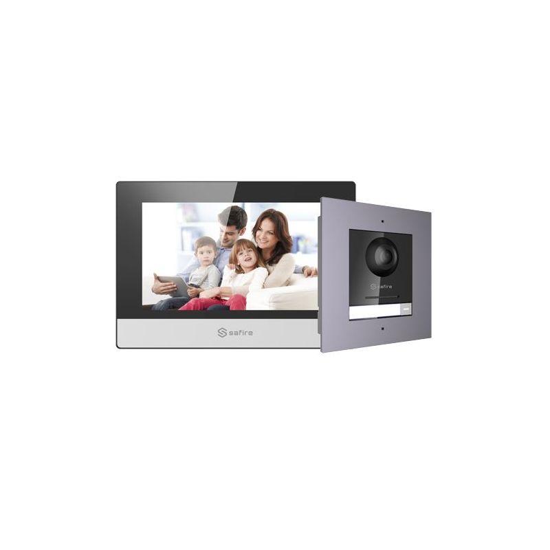 SF-VIK001-F-IP - Kit de Videoportero, Tecnología IP, Incluye Placa y…