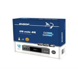 Edision OS MIO 4H S2X + T2/C Gris Receptor de satélite E2 Linux