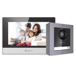 Safire SF-VIK001-S-IP - Kit de Portier vidéo, Technologie IP, Comprend Plaque…