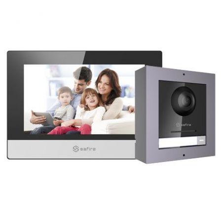 Safire SF-VIK001-S-IP - Kit de Videoportero, Tecnología IP, Incluye Placa y…