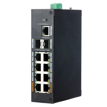 X-Security XS-SWI1108HIPOE-G120DIN - Industrial Switch X-Security, 8 PoE ports (RJ45) + 2…