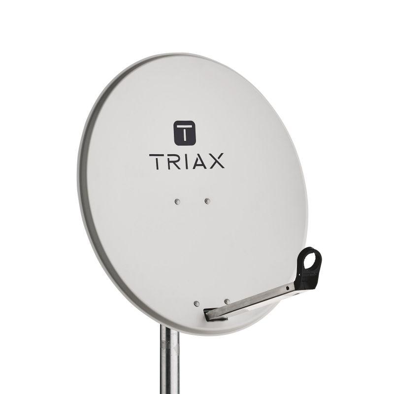 Triax TDS 65A Antena parabólica de acero galvanizado 65cm Gris luminoso