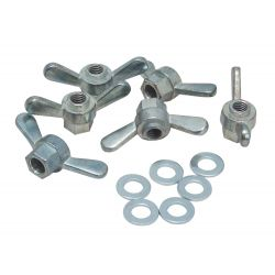 Triax Wing nuts, zinc alloy M8 50 uds