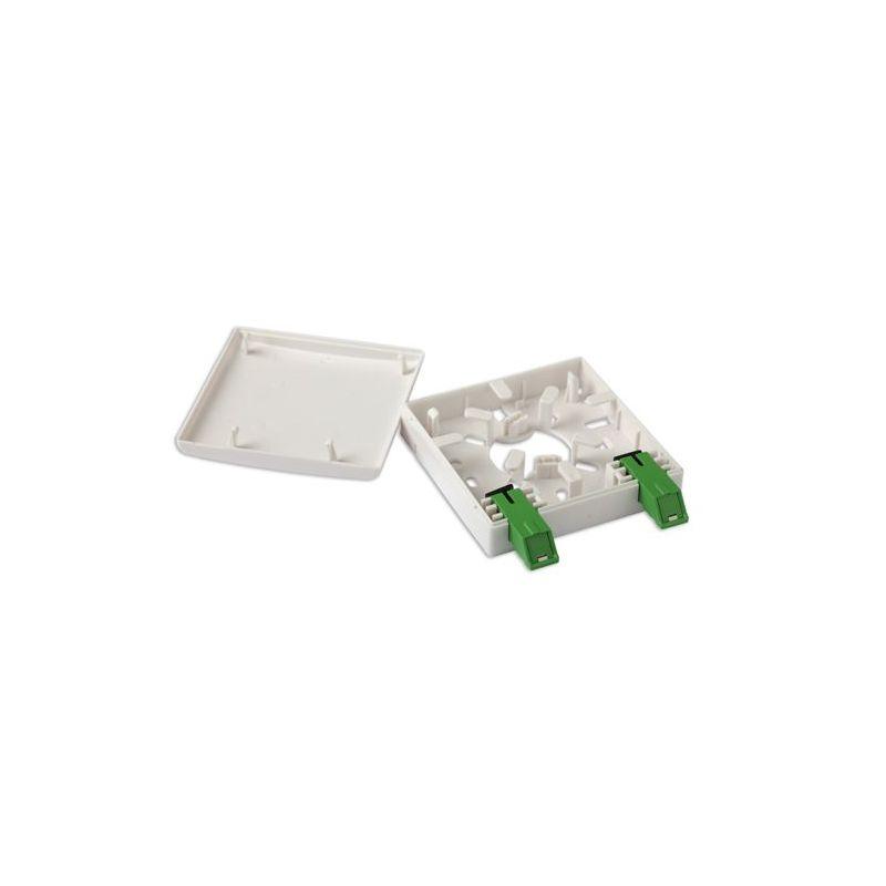 Alcad OTB-000 Caja terminal f.o., 2 adaptadores sc/apc