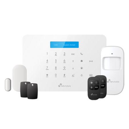 Nivian NVS-A6WG - Nivian Smart Alarm Kit, Touchpad and RFID reader, WiFi…
