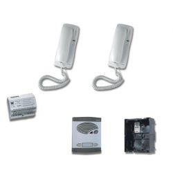 Alcad KAD-42021 Kit 1 puls.doble intercom.4+n sin abr