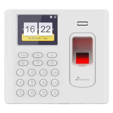 Nivian NV-TIMECONTROL-WIFI - Time & Attendance control, Fingerprint, Mifare Card…