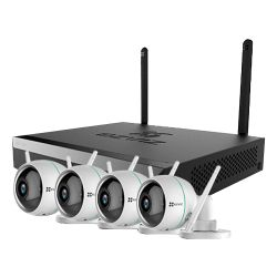 Ezviz EZ-BW3424B0-E40 - Kit de Videovigilancia EZVIZ, 4 Cámaras IP WiFi 2Mpx,…