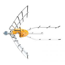 Antena de Terra ELLIPSE UHF (C21-48) G 38dBi LTE700 Com Fonte de Alimentação Televes