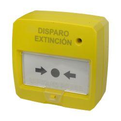 Dmtech DMT-D9000-MCP-Y - Pulsador rearmable, Especial para panel de extinción,…