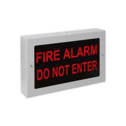 """Kentec K27102 \""""seÑal alarma de incendio \""""\""""no entrar\""""\"""" - rojo sobre negro\"""""""