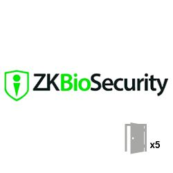 ZKBIOSECURITY-5D - Access Control Software License, Capacity 5 doors, TCP…