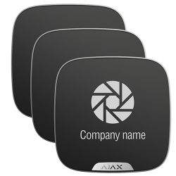 Ajax 10XAJ-BRANDPLATES-B - Ajax, Pack 10 cubiertas personalizables para sirena…