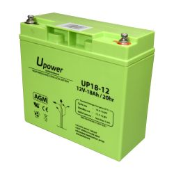BATT-1218-U - Lead-acid battery AGM, Voltage 12 V, Capacity 18.0 Ah,…