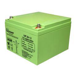BATT-1226-U - Lead-acid battery AGM, Voltage 12 V, Capacity 26.0 Ah,…