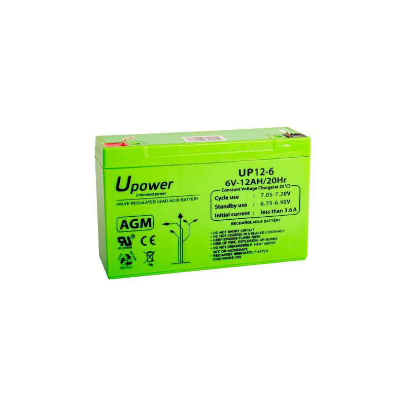 BATT-6012-U - Upower, Rechargeable battery, AGM lead-acid…