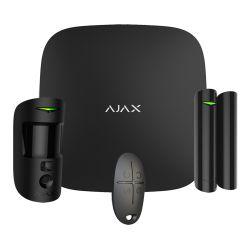 Ajax AJ-STARTERKITPLUS-CAM-B - Kit de alarma profesional, Certificado Grado 2,…