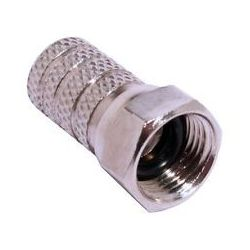 F connector with rubber for...