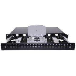 "Ikusi PFO-124 Bandeja fibra 19"" telescópica con frontal 24 SC/LC…"