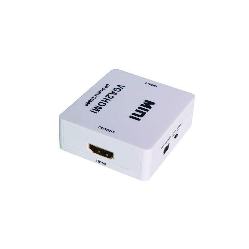 Conversor con audio VGA a HDMI 1080p alimentacion por USB