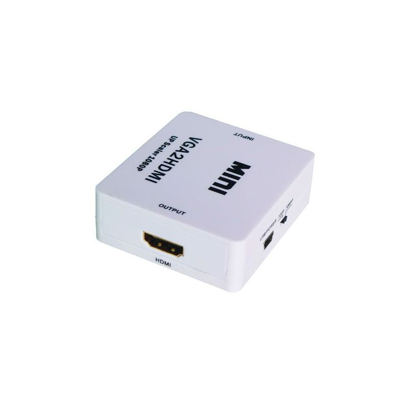 Converter with audio VGA to HDMI 1080p power by USB