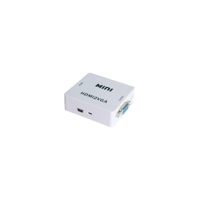 Conversor HDMI a VGA con audio alimentacion por USB