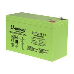 BATT-1272-U - Upower, Rechargeable battery, AGM lead-acid…