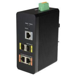 X-Security XS-SW04-MGF-DIN - X-Security HiPoE Switch, 2 PoE ports (RJ45) + 2 Uplink…