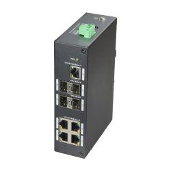 X-Security XS-SW09-GF-DIN - X-Security Switch, 5 Ports RJ-45, 4 SFP Gigabit ports,…