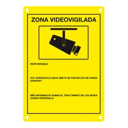 DEM-281C Placa de CCTV homologada en catalán