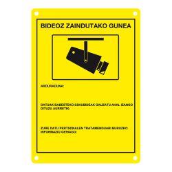 DEM-281E Placa de CCTV homologada en euskera