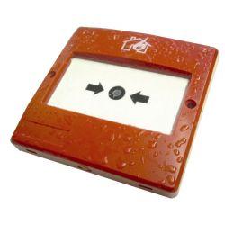 DEM-1009 Alarm push (break glass type) in red, designed…