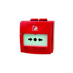 Honeywell W1A-R470SG-K013-91 Red glass break alarm button with…