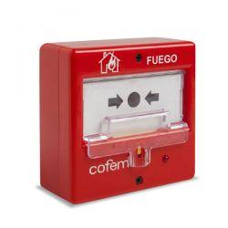 Cofem PUCAR Pulsador alarma incendios rearmable para sistema…