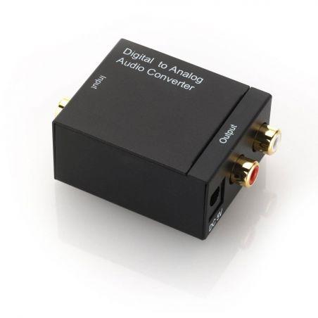 Conversor de audio digital Toslink (S/PDIF) o RCA en analógico 2xRCA