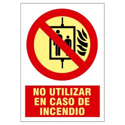 SIGNS-4175B-2129 - Sinage poster, Fire protection equipment, Do not use…