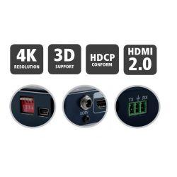 Matrix HDMI 2.0 de 4x4 (4 entradas 4 salidas) Profesional B-RUN. 4K UHD 3DFull. Mando IR