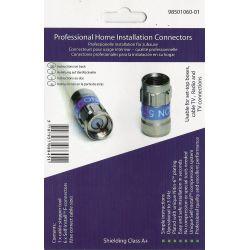 Kit conectores F Cabelcon + herramienta. RG6